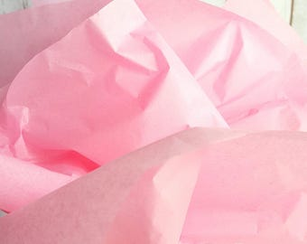 Pastel Pink Tissue Paper, 48 Sheets 20 x 30 in. / 50.8 x 76 cm of Gift Tissue, Shower Supplies, Pompom Supplies