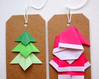 Origami Christmas gift tags