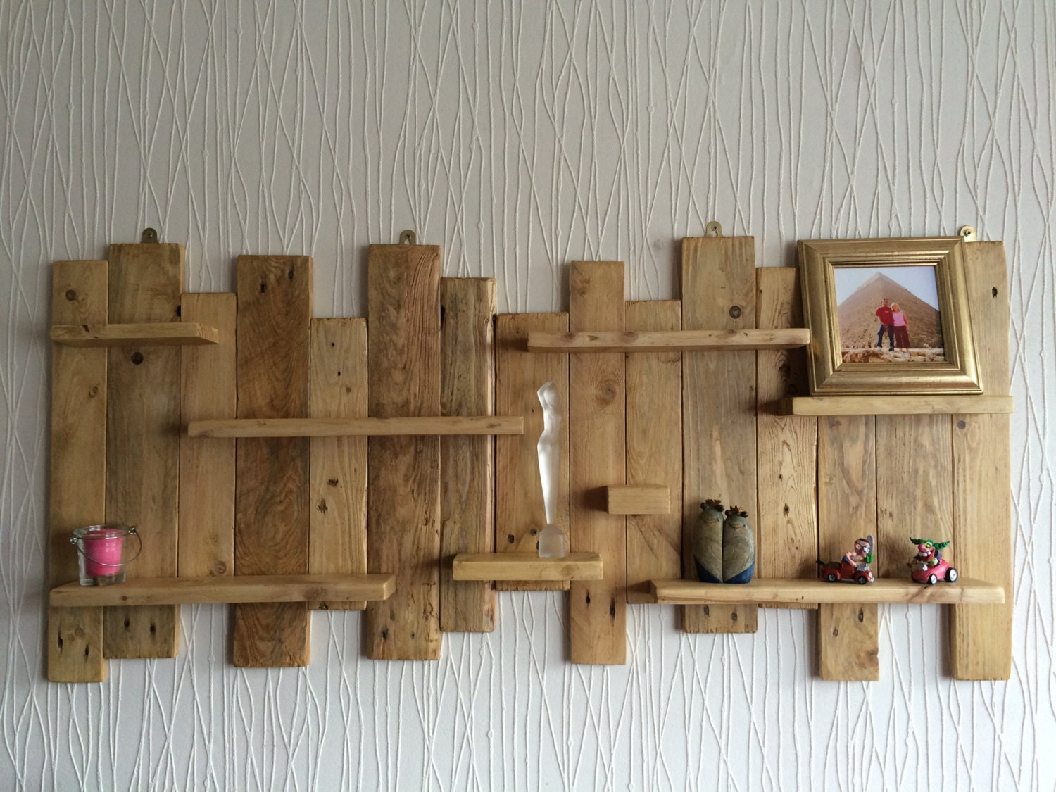 Pallet Wall Mounted Shelf Unit Rustic And Handmade From