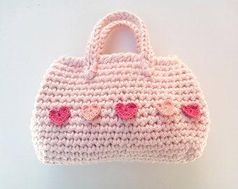 Schema Uncinetto mini borsa PATTERN 24 Mini Borsetta rosa estate primavera idea regalo bambine Uncinetto Accessorio Ragazze Instant Download