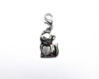 LEXFIMO - cat with heart charm