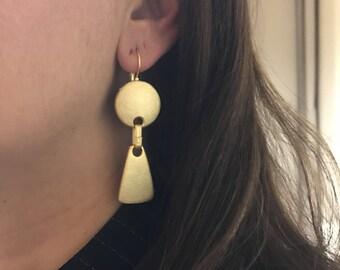 Metal earring, Gold filled earring
