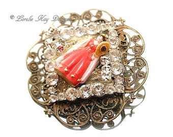 The Fairest Of Them All Snow White Brooch Tiny Fairy Tale Broach Pin Lorelie Kay Designs Original