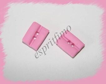 """""""Bubble gum pink"""" button Fimo"""