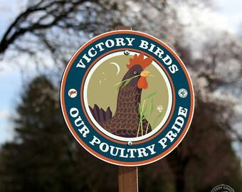 Victory Birds- Garden Sign