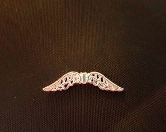 """Angel Wings! 1 1/4"""" (32mm) from wing tip to wing tip, Silver Plated Qty: 50"""