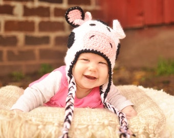 Crochet Cow hat/ Cow hat/ Cow/ Crochet Cow