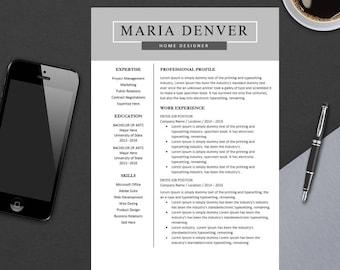 Top Resume Template for MS Word   Minimal Resume Design   Teacher CV Template Design   Best Modern CV   Instant Download   A4 Maria