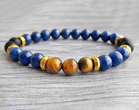 Bead Bracelet For Men Bracelet Lapis Lazuli Bracelet Lapis Bracelet Harmony Bracelet Protection Bracelet  Bracelet Gemstone Bracelet by Etsy