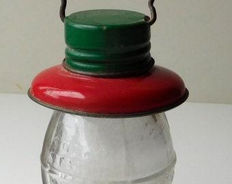Vintage T.H. Stough Railroad Lantern Glass Candy Jar