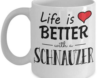 Valentine Coffee Mug   Handprinted Ceramic Mug   Dog Cat Breeds   Schnauzer   Love Coffee Mug   Love Sign   Love Print   Love Quote Mug