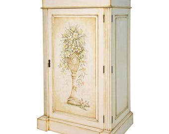 french antique hand carved armoire. French Hand-Painted Cabinet / Armoire Storage Laundry Pantry Antique Hand Carved A