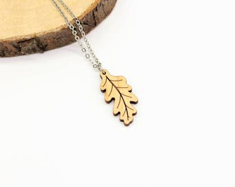 Oak Leaf Necklace | Laser Cut Nature Jewellery