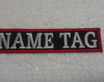 Custom Embroidered Biker Name Tag