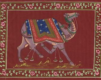 Camel Red Fabric, Art of Jaipur, Mixed Media