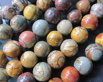 natural Colorful Picasso Jasper 10mm round ball beads -40pcs/Strand