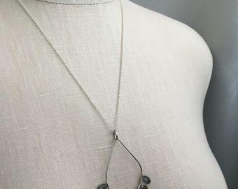 Labradorite Open Spaces Necklace Sterling Silver