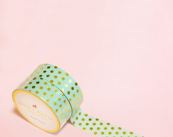 POLKA DOTS WASHI Tape | Masking Tape | Korean Washi Tape | Vintage Flower | Deco Tape | Scrapbooking | Japanese Tape | Paper Tape | Diy