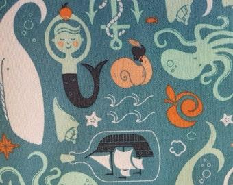 Diaper Waterproof Laminate fabric PUL - Underworld Sea
