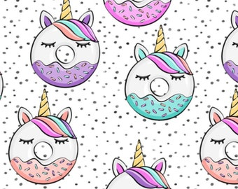 Unicorn Donuts - PRE-ORDER - CUSTOM Reversible Bandana - Dog Bandana - Cat Bandana - Handmade Pet Bandana
