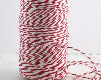 Red & White Baker's Twine, 10 yards