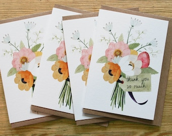 4 x 'Thank You' cards