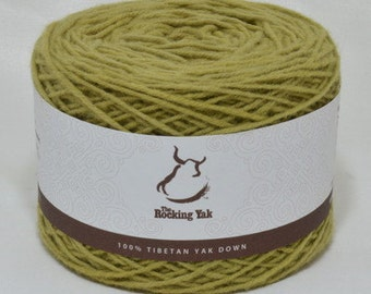 100g Tibetan Yak Down Yarn -Spring Leaf Green - 11005