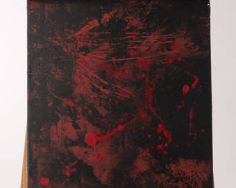 16x20 Original Art, Abstract Art, Abstract Painting, Original Painting, Wall Hanging, Home Decor, Original Painting, black, red