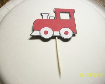 train cupcake toppers- set of 24