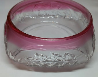 Vintage Glass Serving Dish; Vintage Glass Small Bowl