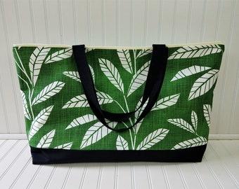 Extra Large Beach Bag - Beach Bag Extra Large - Greenery -Monogram Beach Bag - Waterproof Beach Bag - Beach Tote Bag - Large Beach Bag -