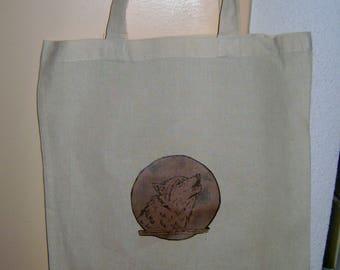 Moonlight wolf tote bag