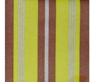 Set of 3 HOD045 chocolate, green and silver striped paper napkins