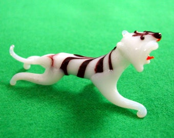 Vintage Blown Glass Tiger