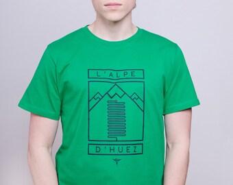 Cycling Art T-Shirt - Alpe d'Huez
