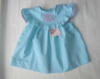 Girl Easter Dress, Baby easter Dress, Monogram Dress, Infant Easter Dress, Spring Dress, Toddler Easter Dress, Birthday Dress, Easter Dress