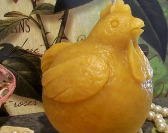 Beeswax Fat Chicken Candle