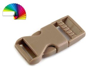 2 Side release Buckle with Strap Adjuster width 15 mm