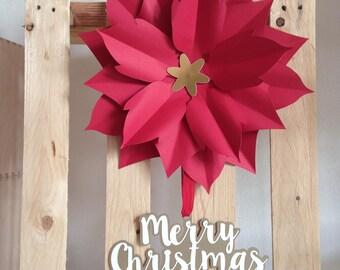 Christmas star of paper to hang