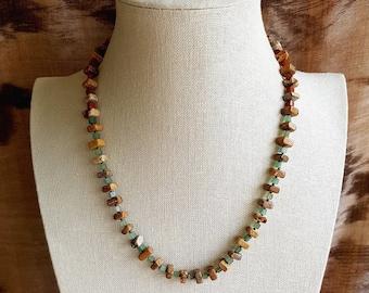 Necklace of Jasper, Red Jasper and Aventurine.