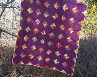 Purple & Gold Baby Quilt