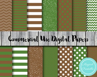 Camo Digital Paper, Military, Woodland, Instant Download Digital Papers, Commercial Use, Scrapbook Digital Papers, Digital Background, DP107