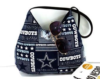 Dallas Cowboys NFL Hobo Handbag, Hobo Shoulder purse for game day, Christmas gift for her, Christmas gift under 40