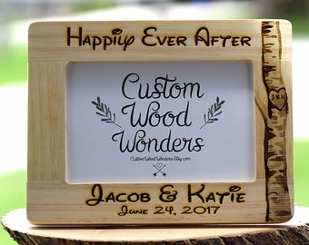 Wedding Gift, Anniversary Gift, Home Decor, Housewarming Gift, Unique Wedding Gift, Personalized Frame, Disney font, Engagement Gift