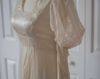 Edwardian Gunne Sax || Vintage Silk & Lace || Elven Dress
