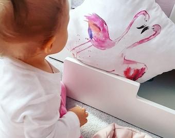 Flamingo Cushion Cover, Flamingo Pillow Cover, Pink Flamingo, Flamingo Nursery Decor, Babyshower Gift 2018, Watercolor Pillow