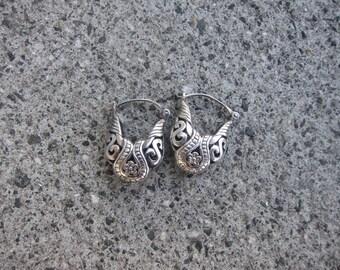 Flower Filigree Sterling Silver Earrings