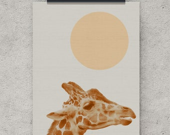 Giraffe print, safari nursery, boy nursery, girl nursery, wall art, decor, wall art prints, large poster, printable art, instant download