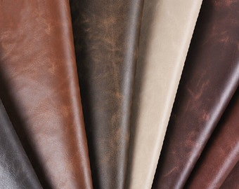 Half Yard Crazy Horse Leather Fabric,100% Polyurethane Leather For Upholstery Application,PU Leather For Making Bags,Purses Leather Fabric