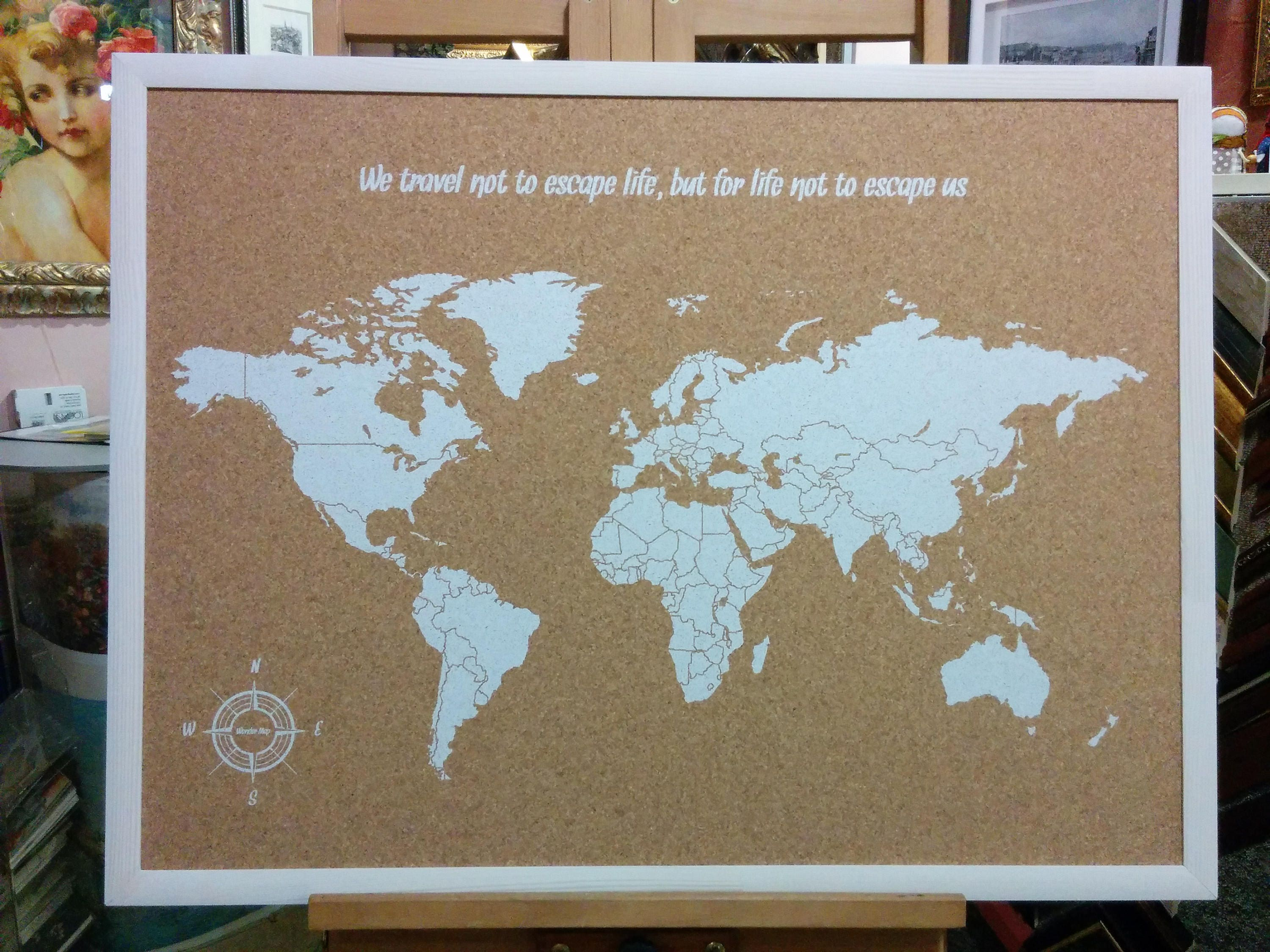 Cork board world map cork map pin board world map zoom gumiabroncs Image collections